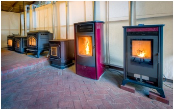 The Six Pellet Stoves Running During 30 Day Trial